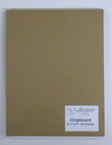 Chipboard 25 sheets/pkt Size: 8 1/2 x 11 inches
